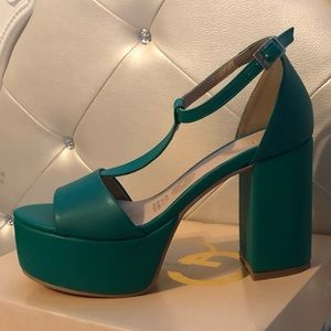 Shoes - *Sale last chance* Green high heels platforms